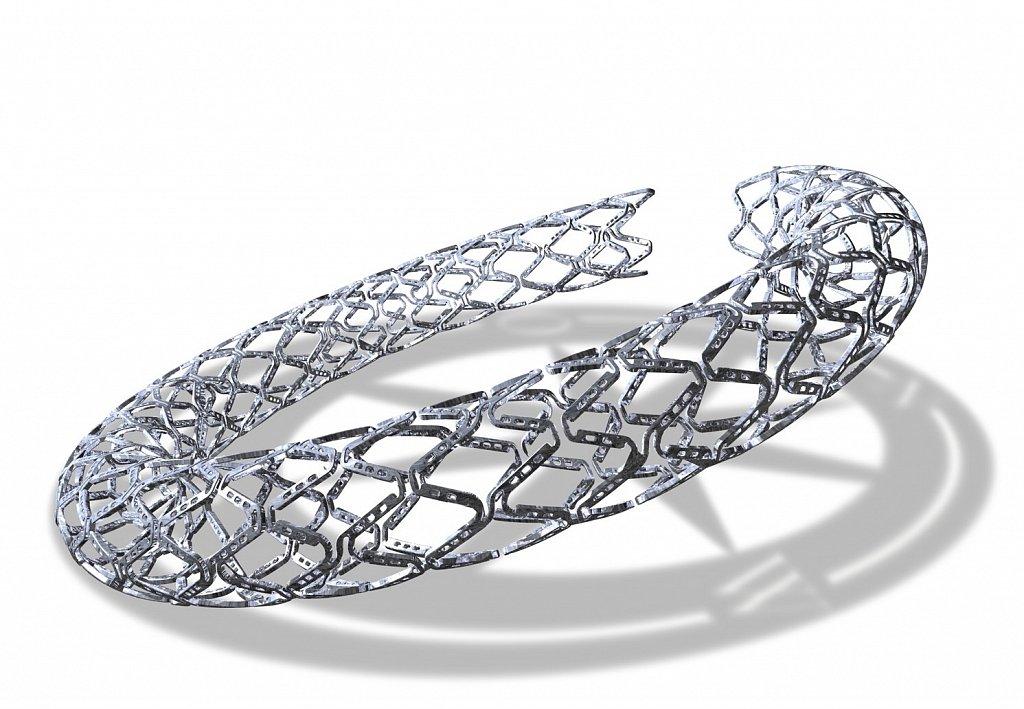 STENT 3D illustration